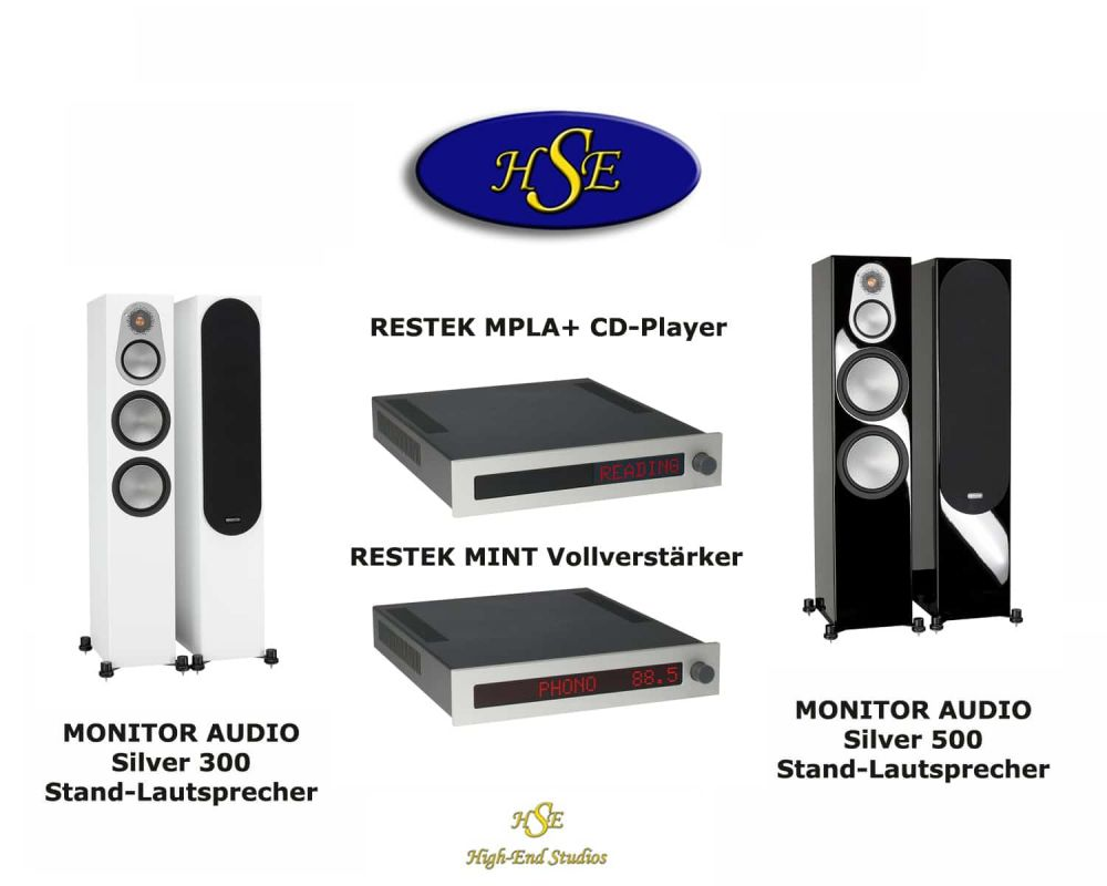 RESTEK MPLA + MINT + MONITOR AUDIO Silver 300